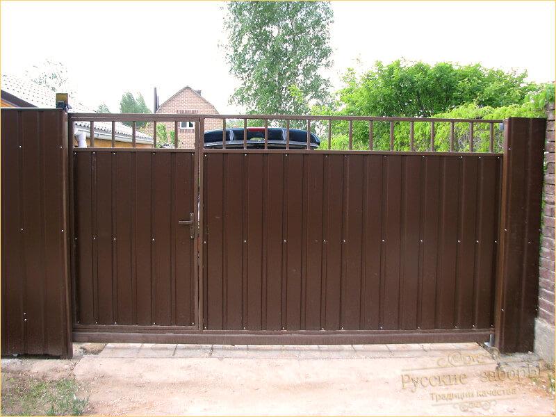 Забор для частного дома из профнастила своими руками 489